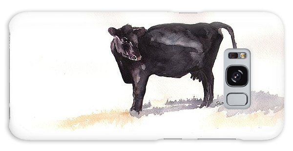Lone Black Angus Galaxy Case by Sharon Mick