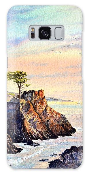 Lone Cypress Tree Pebble Beach Galaxy Case