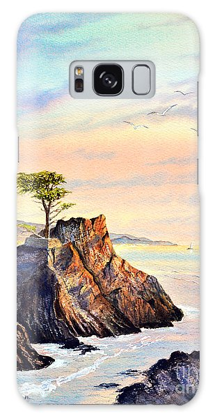 Lone Cypress Tree Pebble Beach Galaxy Case by Bill Holkham