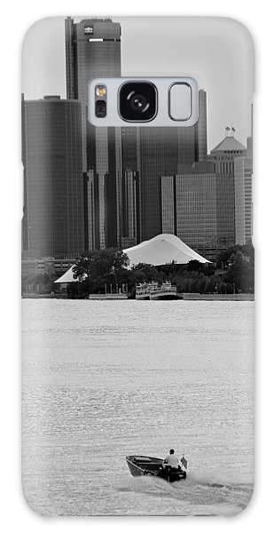 Lone Detroit River Boat Flying The American Flag Galaxy Case