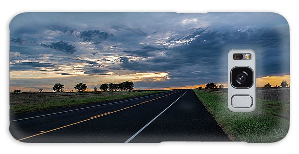 Lone Highway At Sunset Galaxy Case