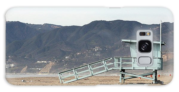 Lone Lifeguard Tower Galaxy Case