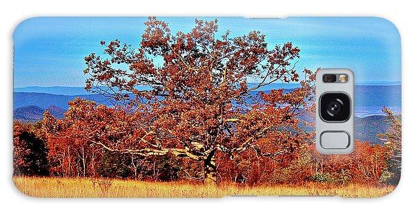 Lone Mountain Tree Galaxy Case