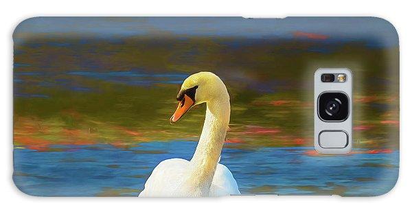 Lone Mute Swan. Galaxy Case