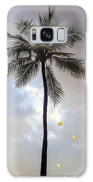 Lone Palm Tree Galaxy Case