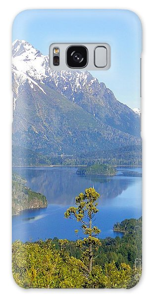 Lone Pine By Andes Mountain Lake Galaxy Case by Barbie Corbett-Newmin