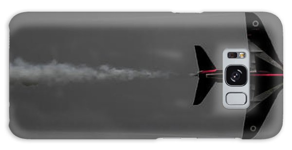 Galaxy Case featuring the photograph Lone Red Arrow Smoke Trail - Teesside Airshow 2016 by Scott Lyons