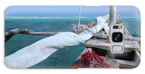 Exploramum Galaxy Case - Lone Red Starfish On A Wooden Dhow 1 by Exploramum Exploramum