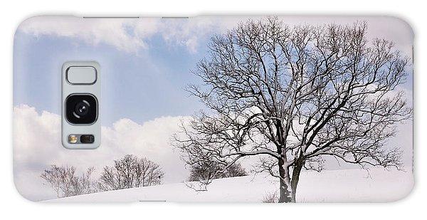 Lone Tree In Snow Galaxy Case