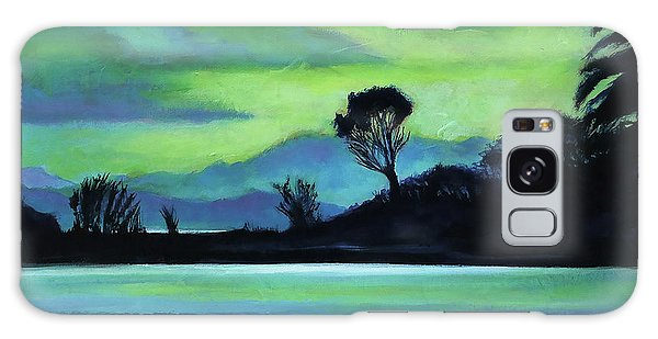 Galaxy Case featuring the painting Lone Tree On The Salish Sea by Angela Treat Lyon