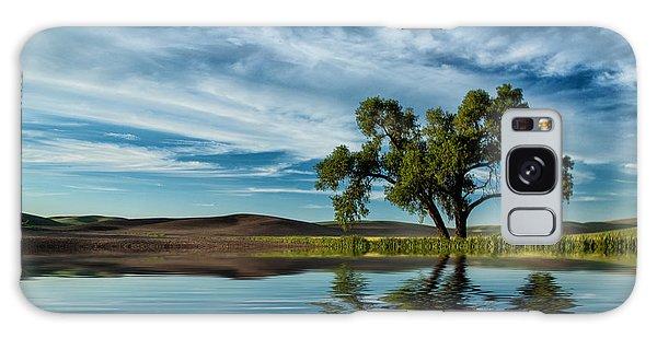 Lone Tree Pond Reflection Galaxy Case