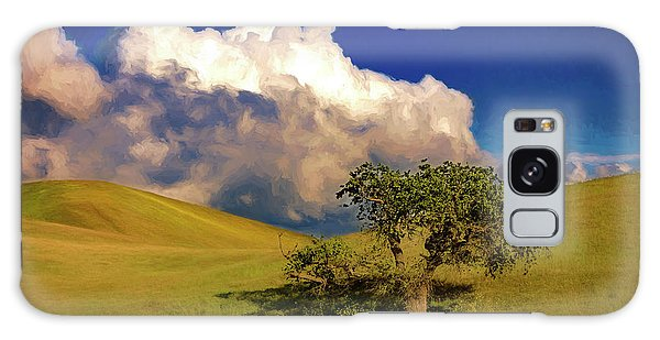 Lone Tree With Storm Clouds Galaxy Case