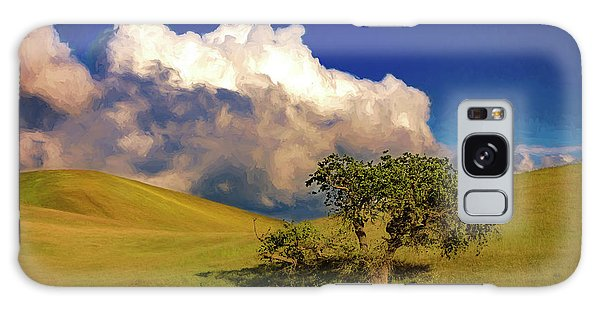 Lone Tree With Storm Clouds Galaxy Case by John A Rodriguez