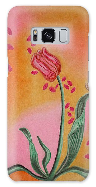 Lone Tulip Galaxy Case by Christine Perry