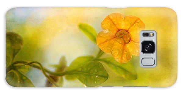Lone Yellow Flower Galaxy Case