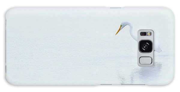 Lonely Egret Galaxy Case