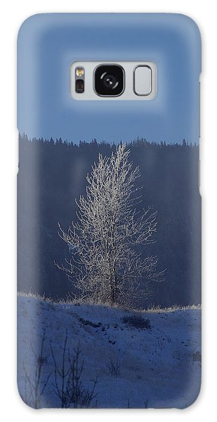 Lonely Frosty Tree Galaxy Case