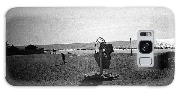 Lonely Man In Ostia Beach Galaxy Case