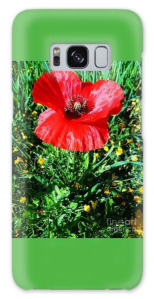 Lonely Poppy Galaxy Case by Don Pedro De Gracia
