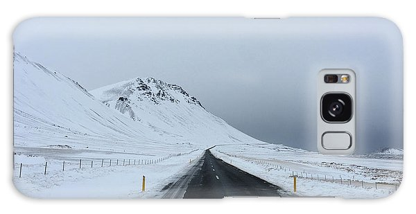 Lonely Road On Snaefellsnes Peninsula Galaxy Case