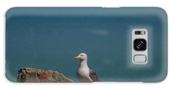 Lonely Seagull Galaxy Case