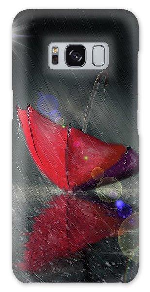 Lonely Umbrella Galaxy Case