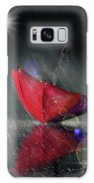 Lonely Umbrella Galaxy Case