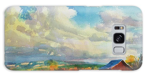 Galaxy Case featuring the painting Lonesome Barn by Steve Henderson