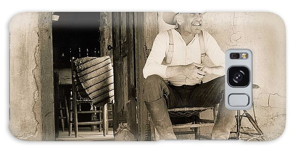 Lonesome Dove Gus On Porch Signed Print Galaxy Case