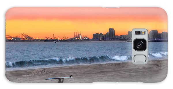 Long Beach From Huntington Beac Galaxy Case