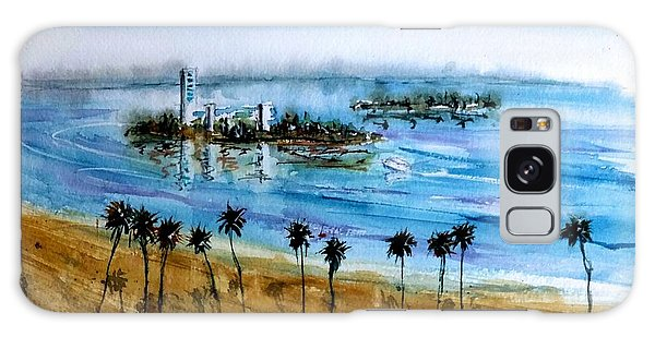 Long Beach Oil Islands Before Sunset Galaxy Case