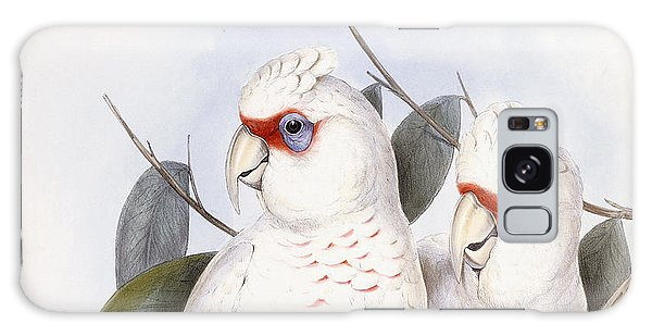 Long-billed Cockatoo Galaxy Case by John Gould