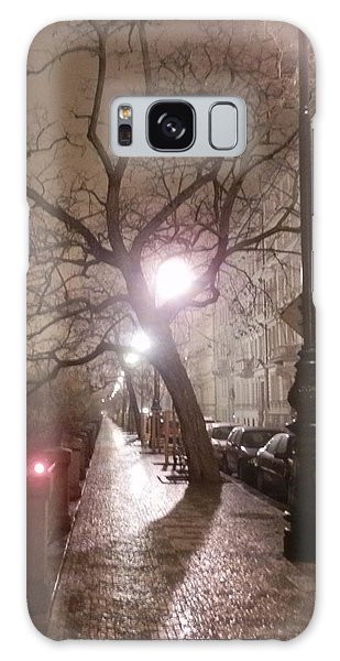 Long Cobblestone Street Of Prague Galaxy Case by Margaret Brooks