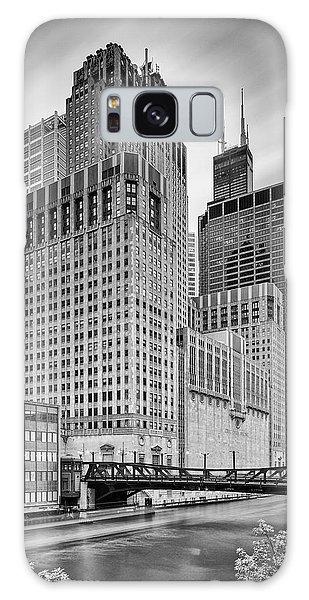 Chicago Art Galaxy Case - Long Exposure Image Of Chicago River Civic Opera House And Top Of The Willis Tower - Illinois by Silvio Ligutti