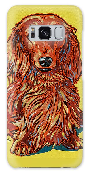 Long Haired Dachshund Galaxy Case