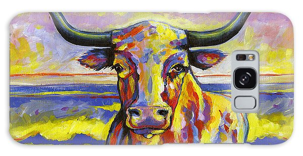 Long Horn At Sunset Galaxy Case by Leanne Wilkes