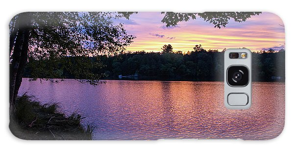 Long Lake Sunset 1 Galaxy Case
