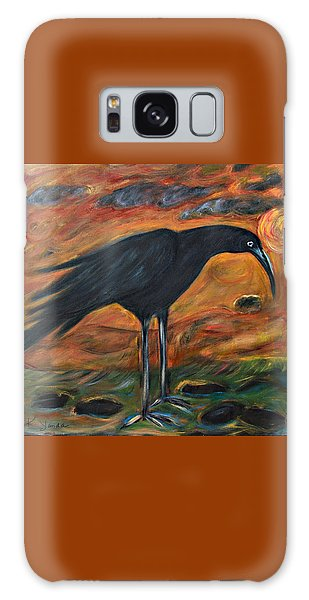 Long Legged Crow Galaxy Case