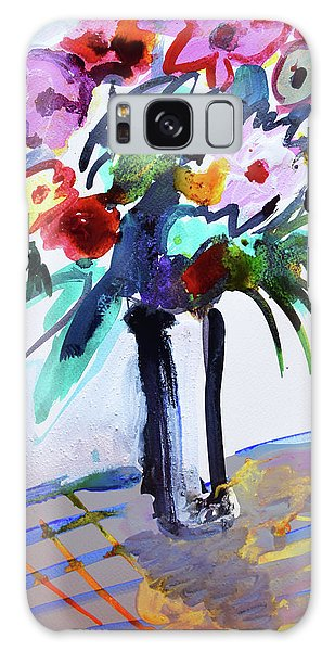Long Vase Of Red Flowers Galaxy Case