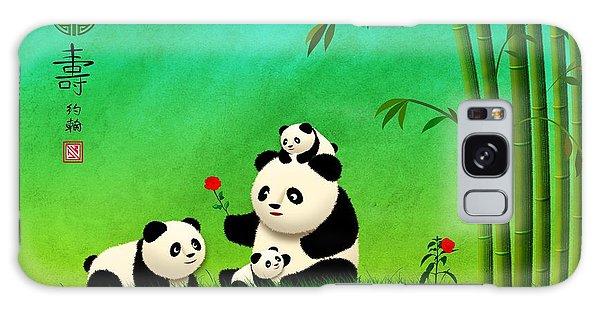 Longevity Panda Family Asian Art Galaxy Case by John Wills