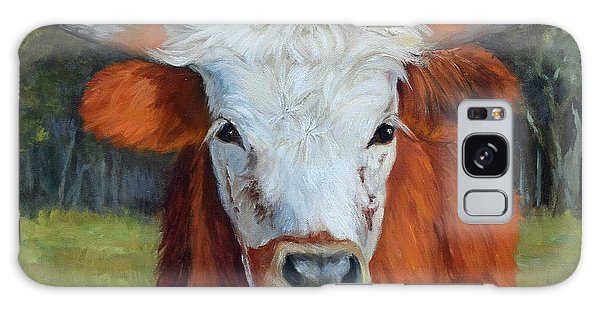 Longhorn Cow Painting II, Ms Tilly  Galaxy Case