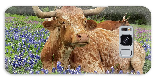 Da210 Longhorn In A Sea Of Bluebonnets By Daniel Adams Galaxy Case