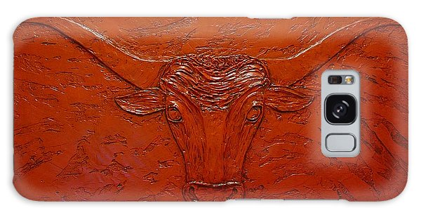 Galaxy Case featuring the painting Longhorn by Sandy Dusek