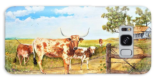 Longhorn Stand Off Your Place Or Mine Galaxy Case