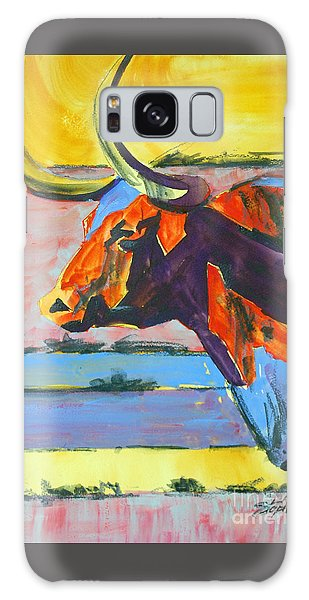 Longhorn Study#1 Galaxy Case by Ron Stephens
