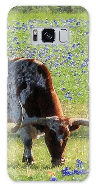 Longhorns In The Bluebonnets Galaxy Case