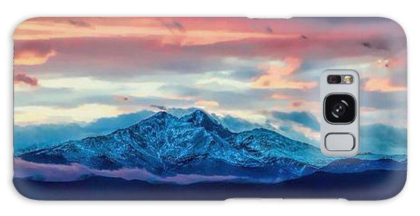 Longs Peak At Sunset Galaxy Case