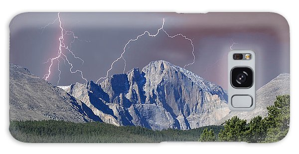 Longs Peak Lightning Storm Fine Art Photography Print Galaxy Case