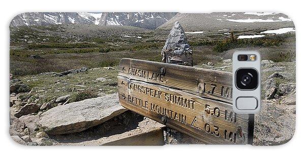 Chasm Galaxy Case - Longs Peak Seen From Chasm Lake Trail by Scott S. Warren