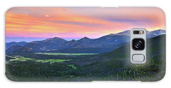 Longs Peak Sunset Galaxy Case